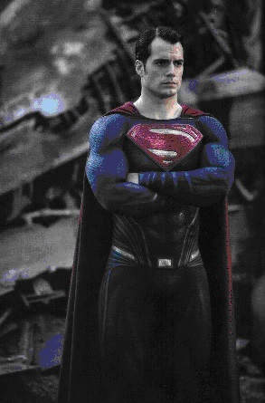 Henry Cavill as Superman in the movie Batman v Superman: Dawn of Justice