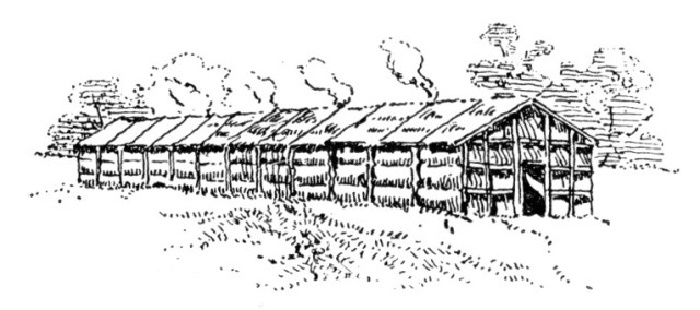Longhouse of the Iroquois.