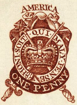 One Penny Stamp 1765